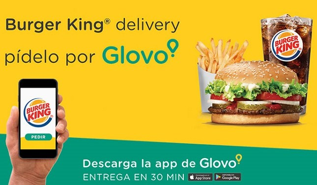 Burger King llega un acuerdo con Glovo para repartir sus hamburguesas