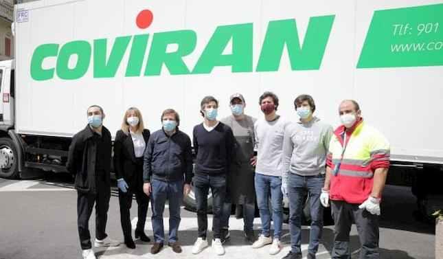Covirán reparte alimentos al Ayuntamiento de Madrid  para el hospital de campaña de Ifema