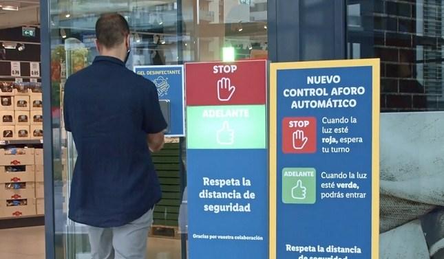 Lidl incorpora un control automático de aforo en sus tiendas
