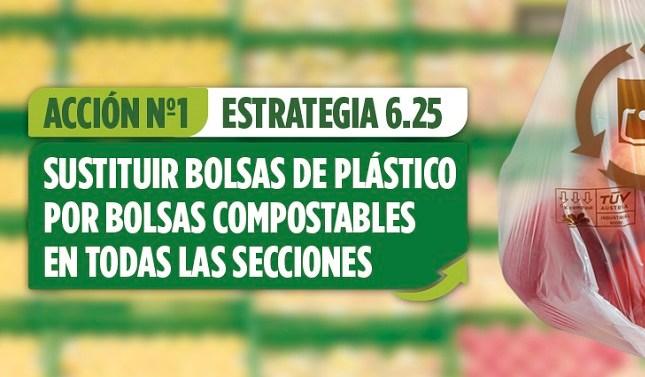 Mercadona elimina las bolsas plásticas de un sólo uso en sus supermercados