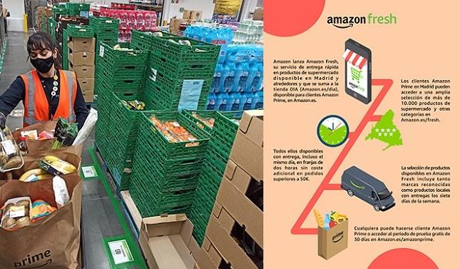 Amazon Fresh llega a España para competir en el segmento online
