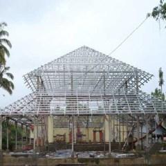 Baja Ringan Lengkung Atap Gelombang Rangka
