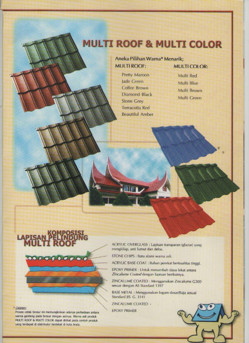 jarak reng baja ringan atap multiroof jual genteng metal roof lapis pasir berpasir murah « ...