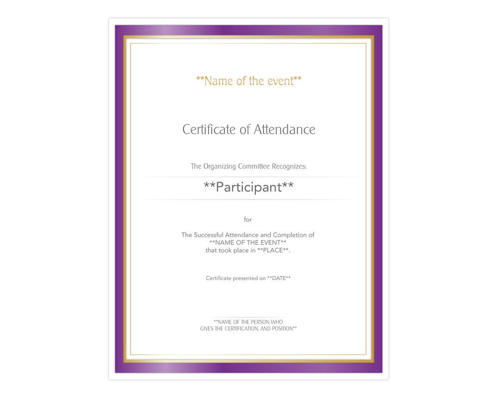 Certificate Of Attendance Motiva Implants