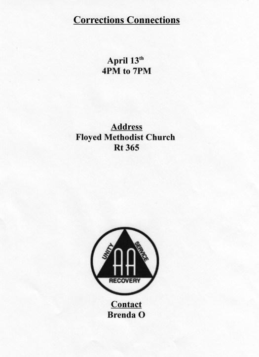 April 13, 2017 corrections workshop