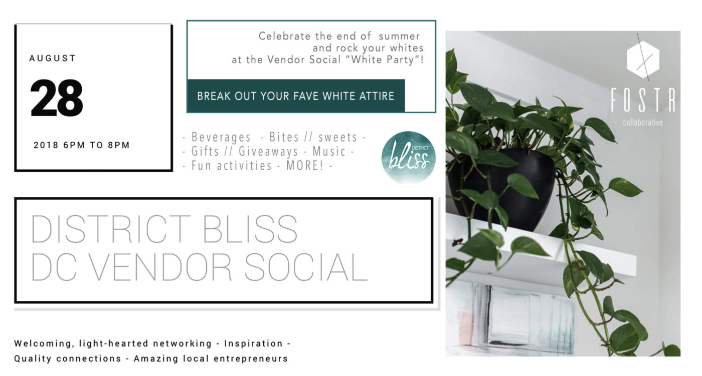 District Bliss Vendor Social White Party at Fostr Collaborative in DC