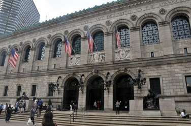 Boston Public Library - one side old...