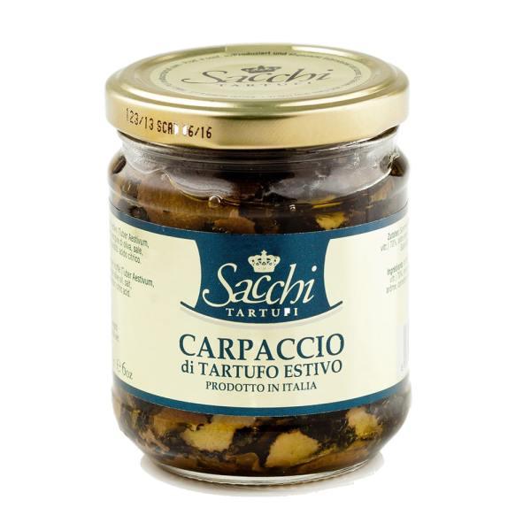 carpaccio truffe d'été en saumure