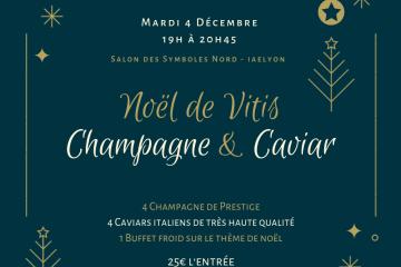 Caviar et Champagne à L'université Lyon 3, NOël de vitis Champagne et Caviar