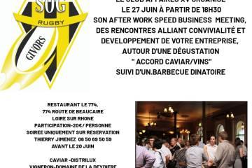 soirée business meeting club affaire XV, 27 juin 2019 réseautage