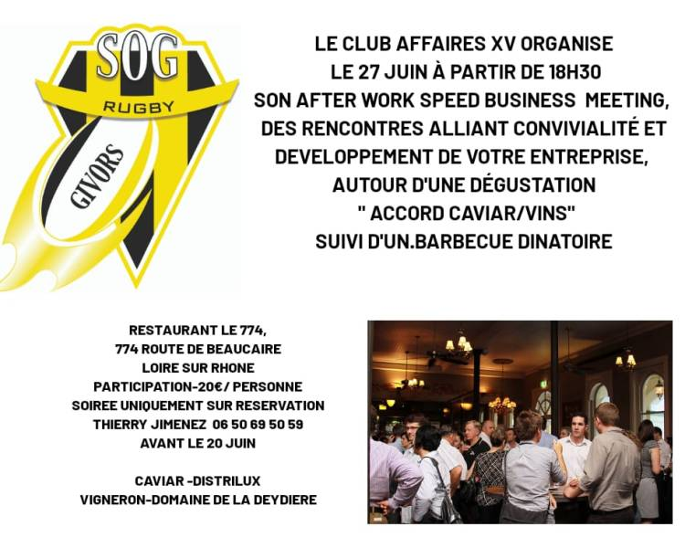 Speed Business club affaires XV