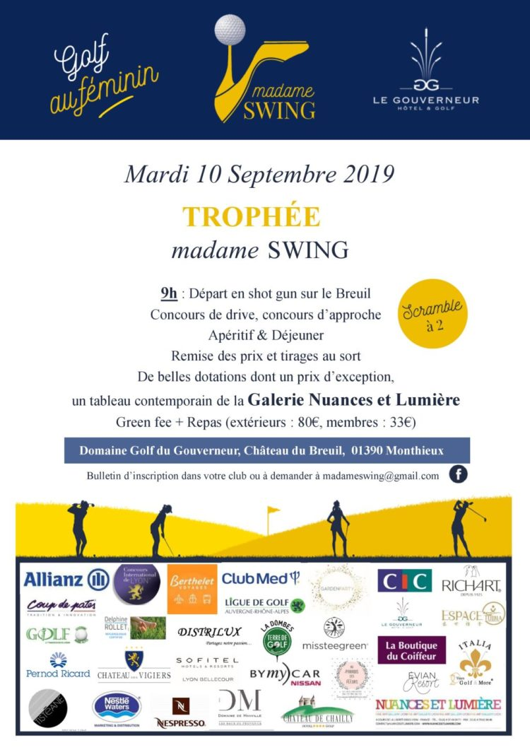 trophée madame swing 10 septembre 2019