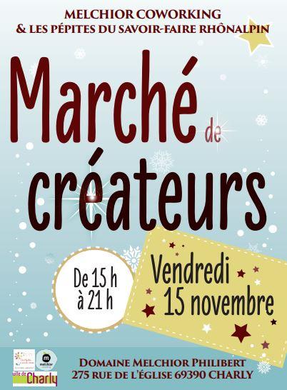 marché des créateurs melchior coworking charly, 15 novembre 2019 charly, melchior pépites du savoir-faire, distrilux, caviar lyon, caviar charly