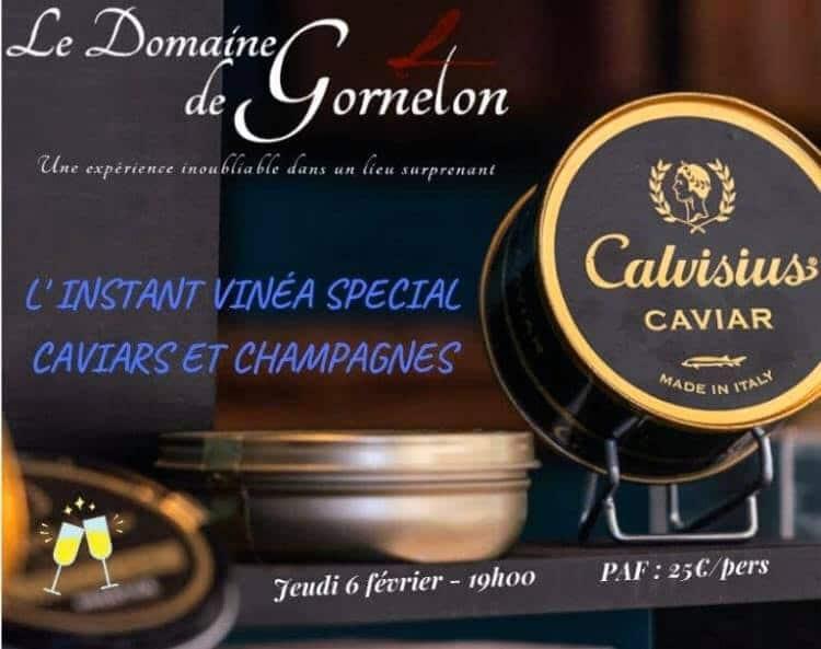 domaine de gorneton instant vinea caviar et champagne, distrilux animation, evenement caviar lyon
