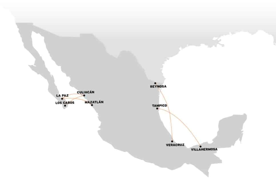 Vivaaerobus, the cheapest airline in Mexico, where do they fly, maps