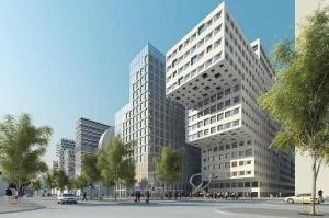 Futuristic buildings in Oslo