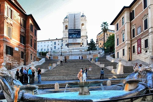 Plaza de Spain in Rome got many stairs