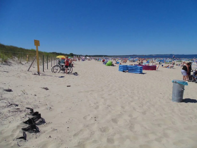 The beach towards Germany. This beach have been rewarded Blue Flag many times.