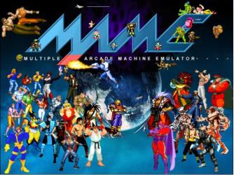 Logo and characters that you can play with MAME