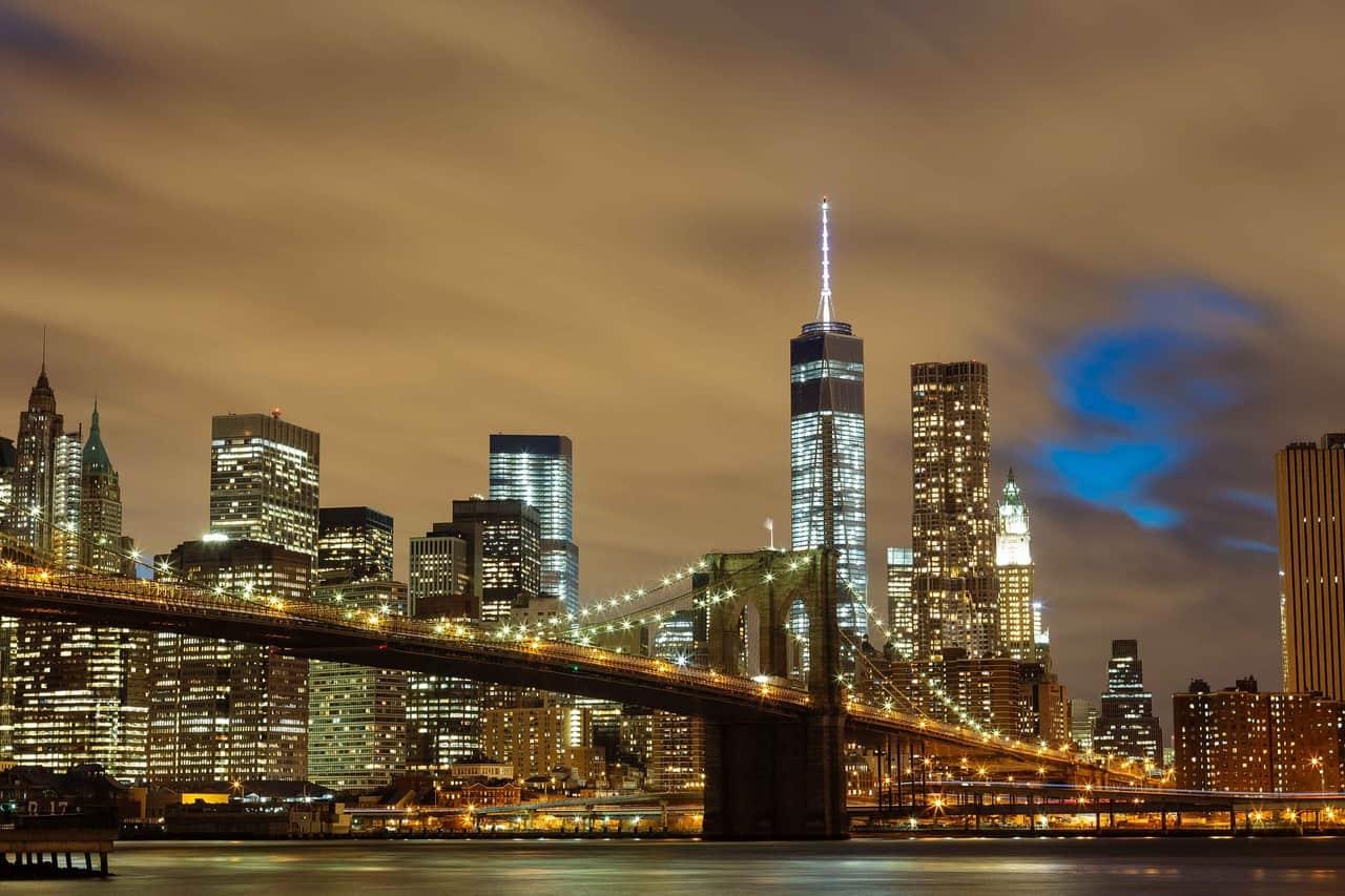 Bridge New York City. Brooklyn Bridge, New York's most famous bridge.