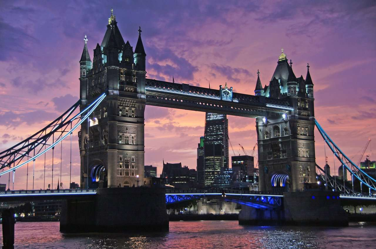 Tower Bridge is our number one on the top list of most beautiful bridges in the world