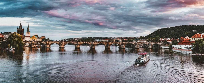 Charles Bridge Prague Czech, a beautiful landmark of Prague