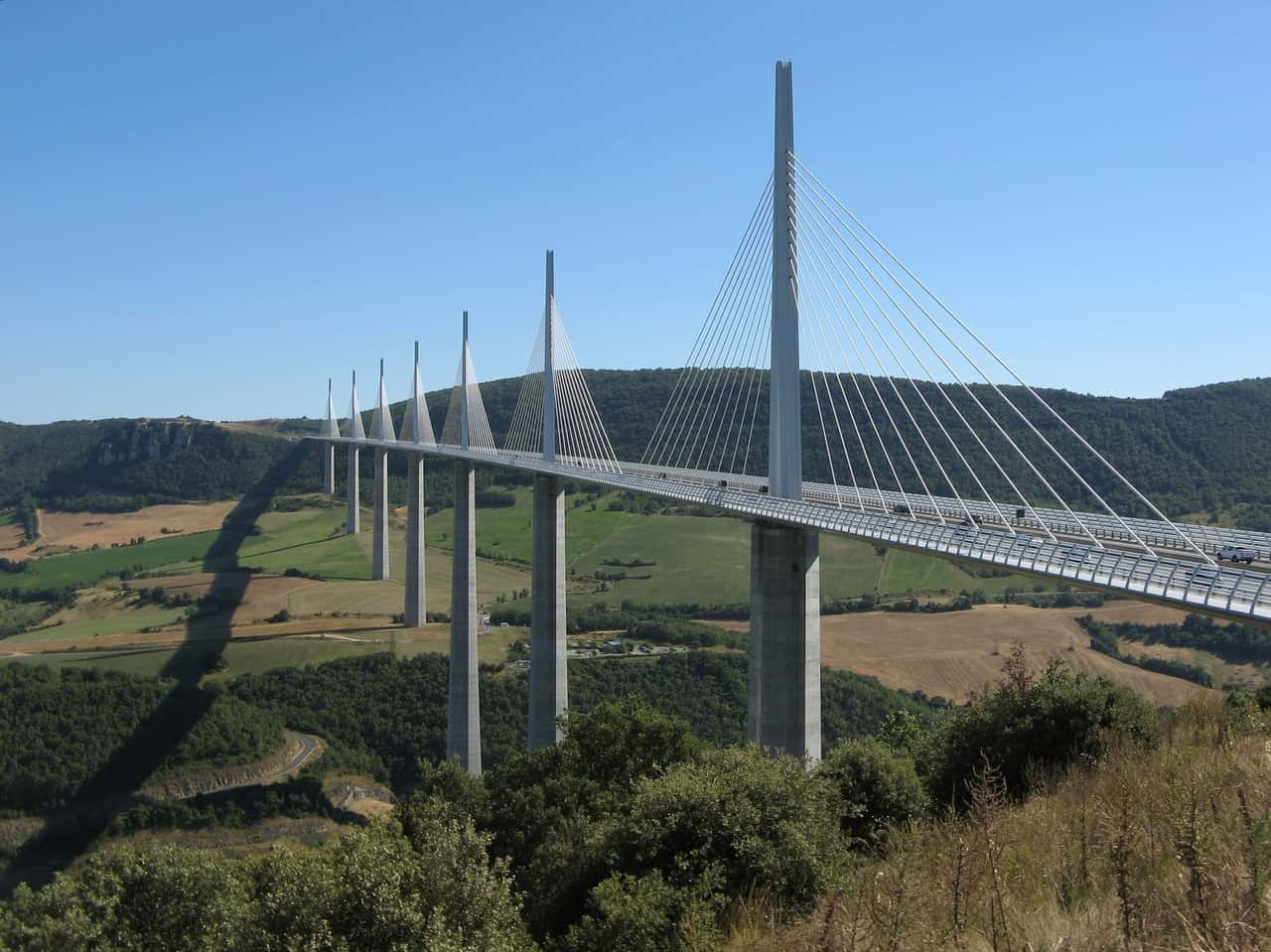 Millau Viaduct, one of the most famous bridges in the world