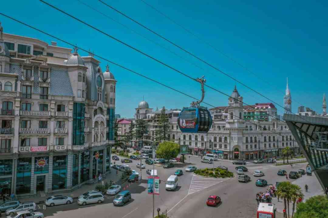 Anuria mountain funicural in Batumi