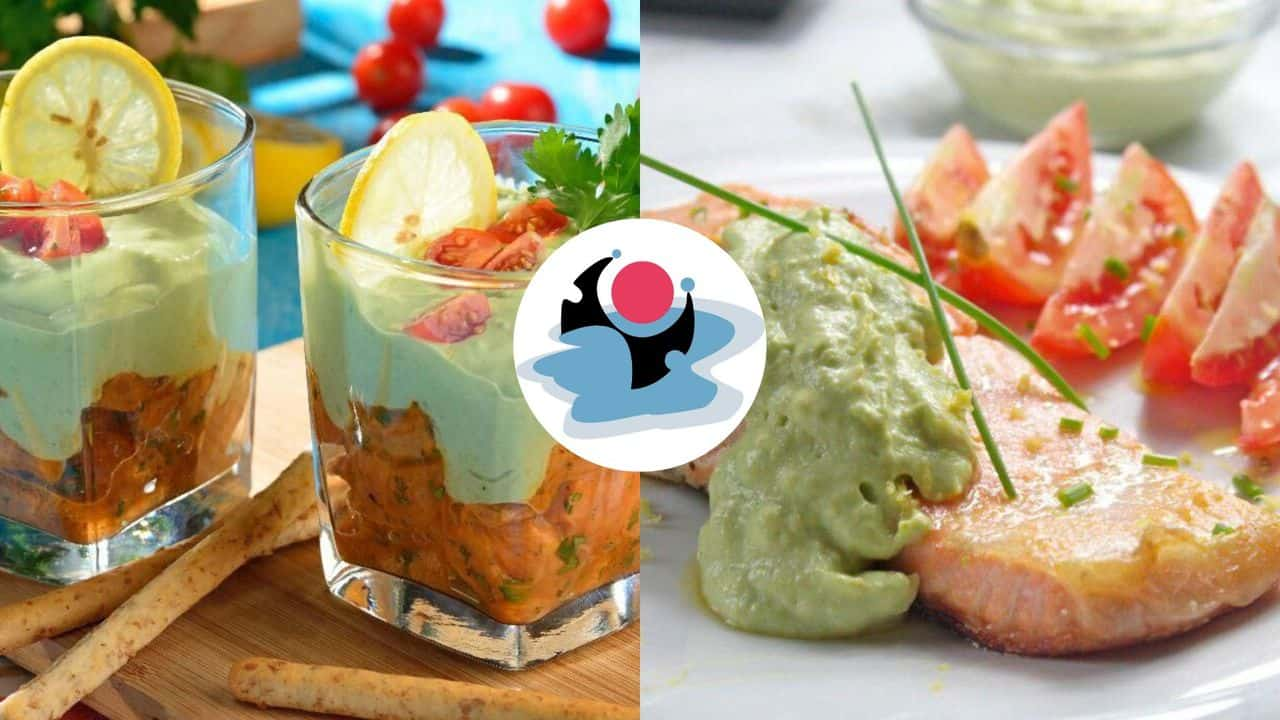 salmon and avocado cream ideas how to decorate your plate