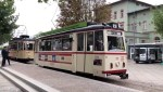 vintage tram route in naumburg germany