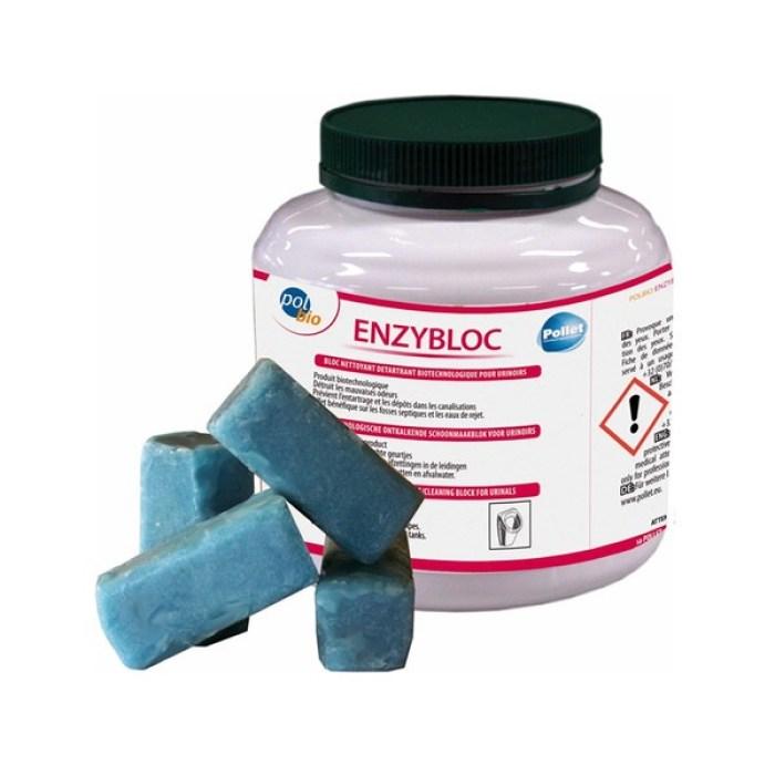 Bloc urinoir nettoyant détartrant Polbio Enzybloc Pollet