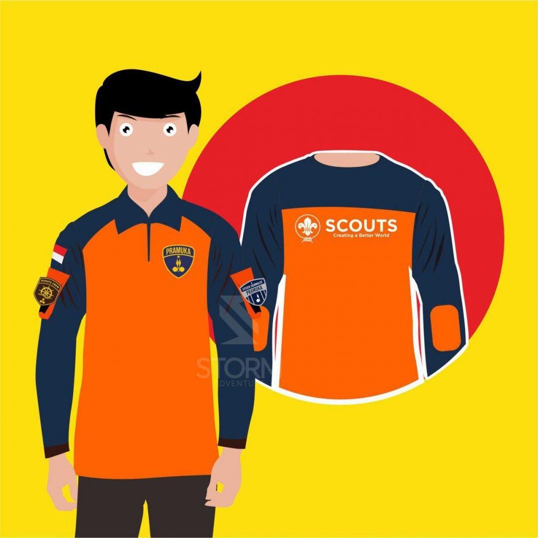 Kaos PDL Satu Rasa Orange-Navy By DISTRO PRAMUKA