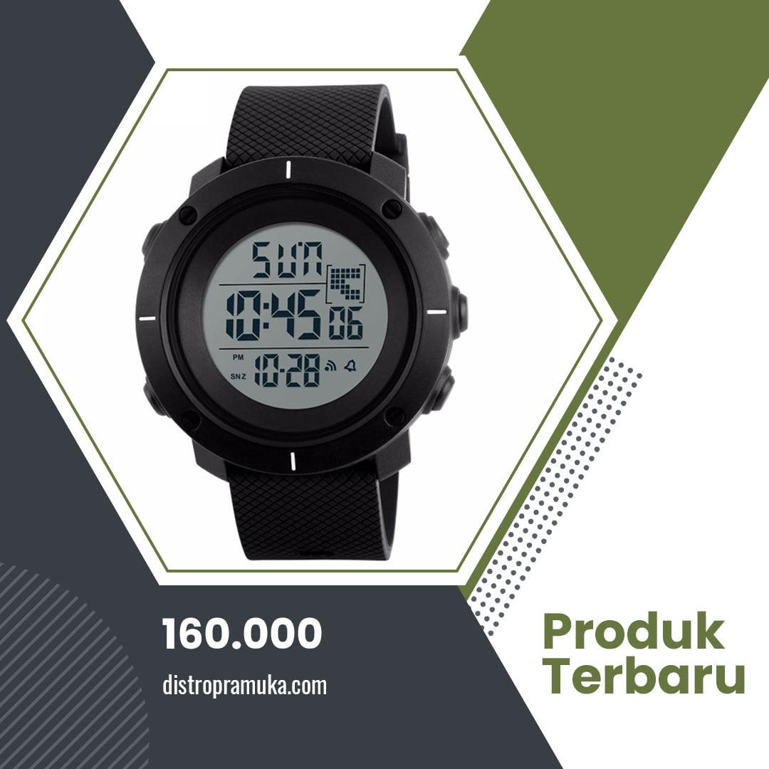 Jam Tangan Wanita Digital SKMEI 1212 Black Water Resistant 50M
