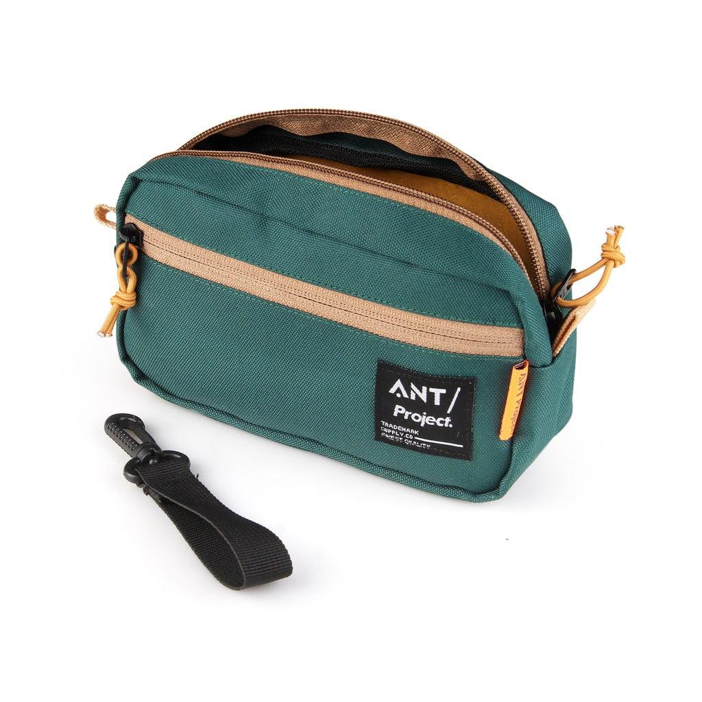 Tas Pouch Mini Bags - Tas Tangan Dopp kit Hijau Botol