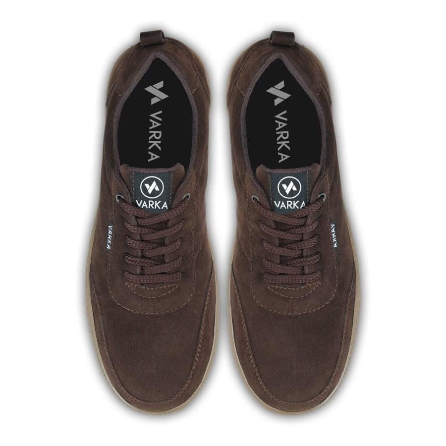 Sepatu Sneakers Pria V4036 Terbaru Brand Varka Berkualitas Coklat