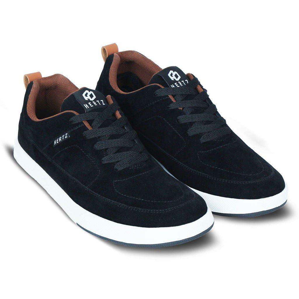 Sepatu Sneakers Pria Terbaru H 3083 Sepatu Casual Kets sekolah Kuliah Warna Hitam