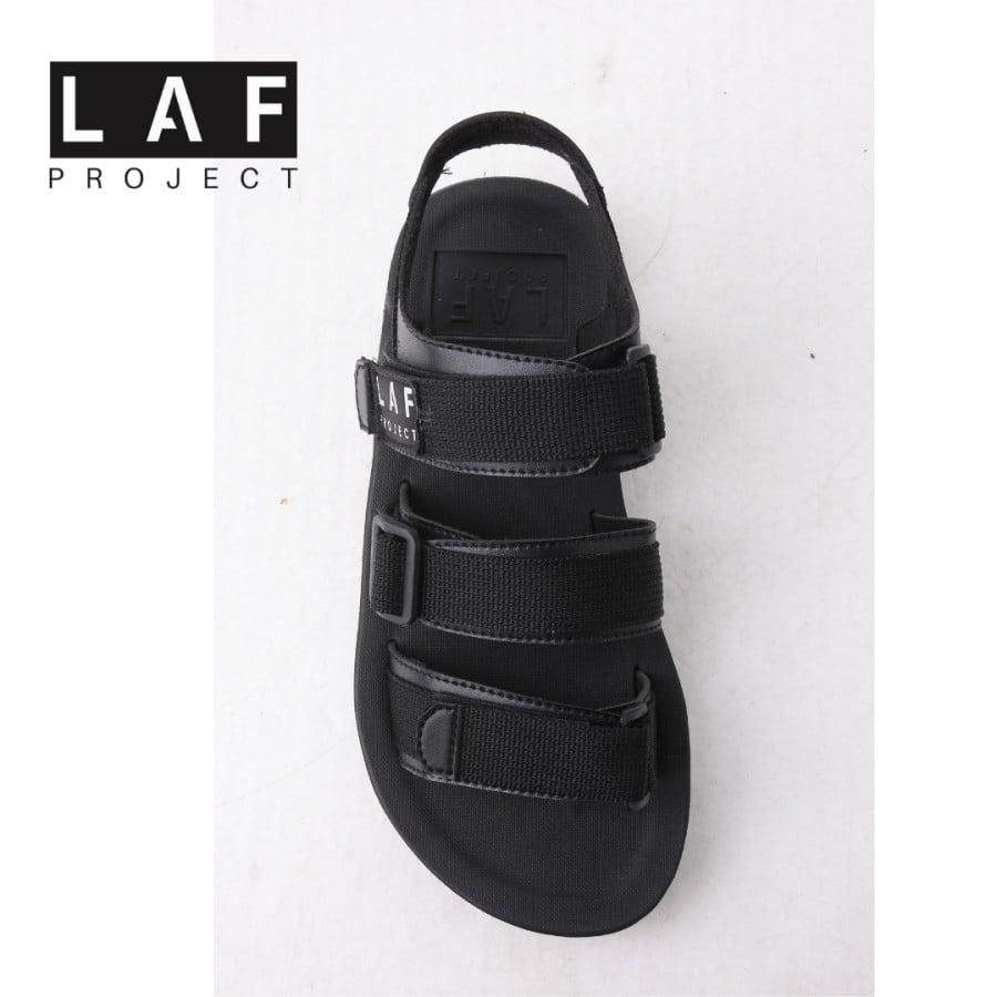 Sandal Gunung Pria Wanita Casual Full Black LAF Project Jack V.1
