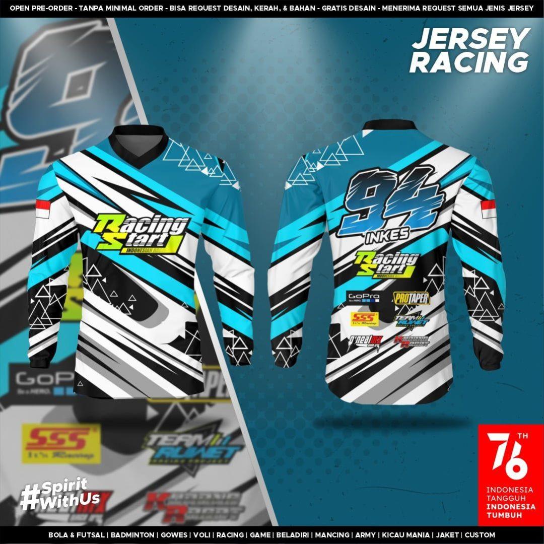 Jersey Satuan Kaos Racing