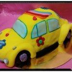 Tarta coche modelada en RKT