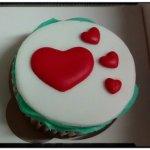 Cupcake corazones