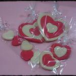 Galletas corazones bicolor
