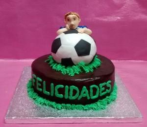 tarta chocolate balon futbol real madrid