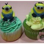 Cupcakes con Minion modelado