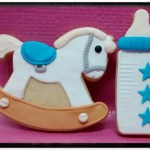 pack dos galletas bebe en fondant azul