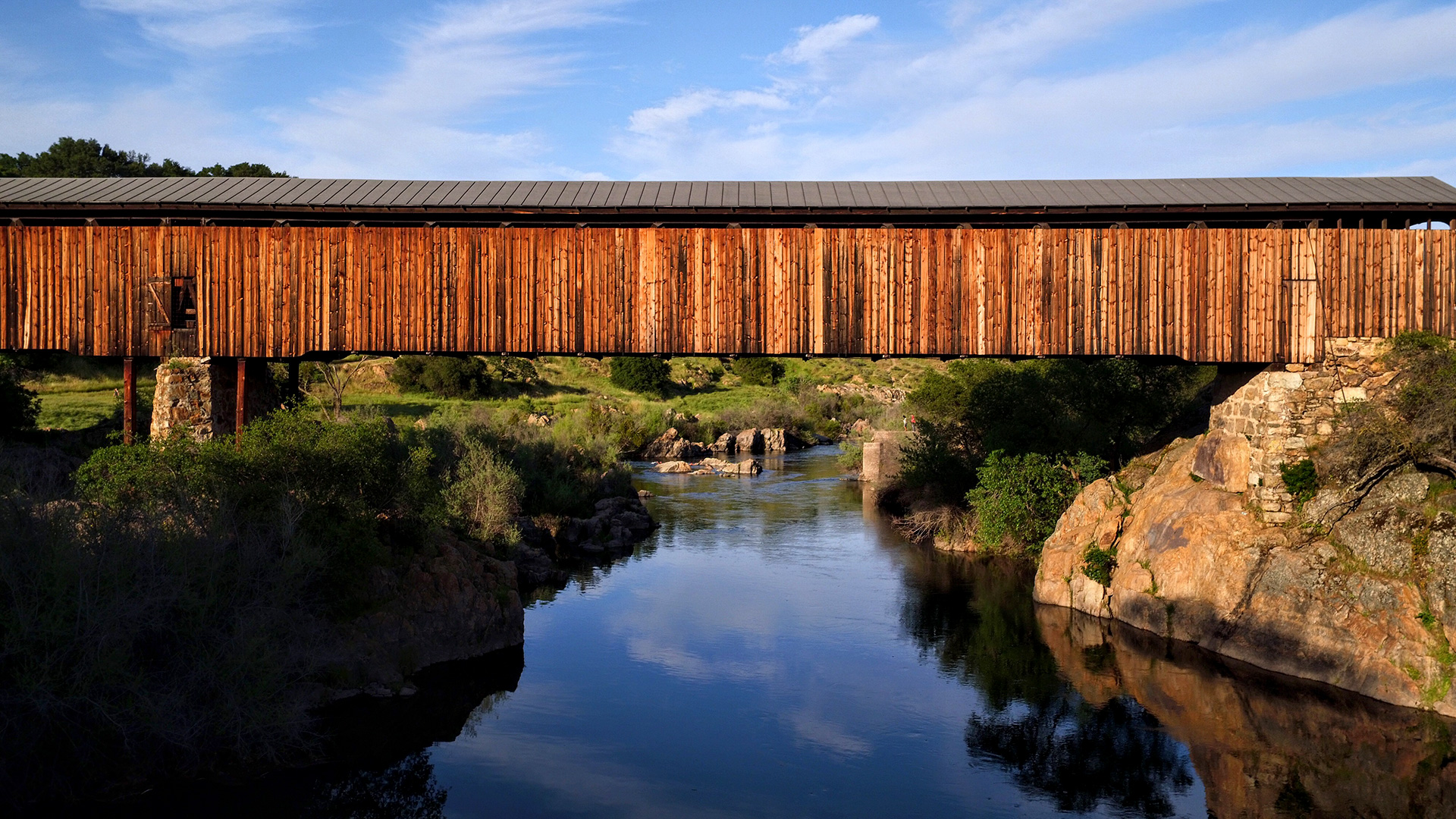 Landscape Covered Bridge - Knights Ferry, CA