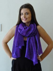 Purples wrap also available as a shirt, top or scarf