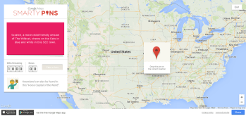 Play geographical trivia in Google Maps using Smarty Pins.