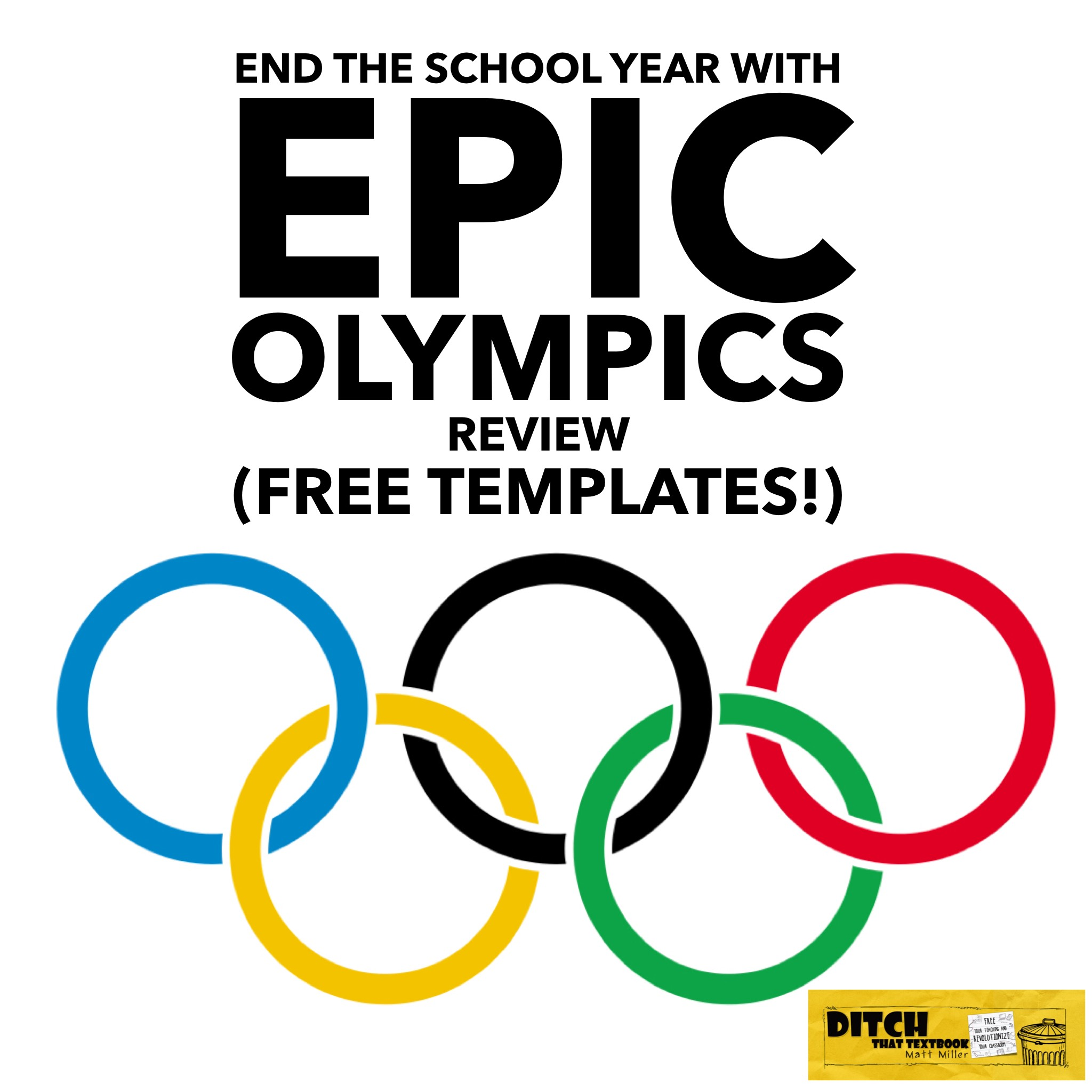 End the school year with epic review olympics free for Year end review template