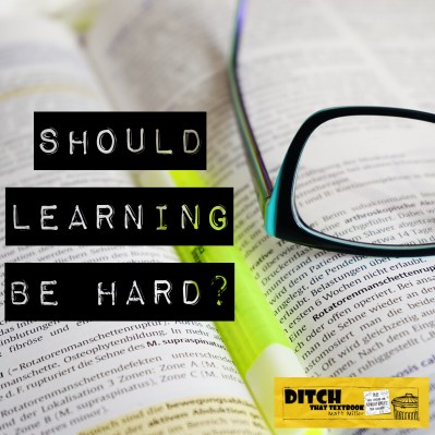 Research tells us that effortful learning is more durable. But we want to make it easy for students to learn, right? Should learning be hard? (Public domain image via Pixabay.com)