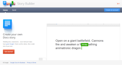 Students can have characters engage in dialogue in a video with Gone Google Story Builder (or create a monologue). (Screen shot from Gone Google Story Builder)